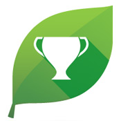 Image of a green leaf award