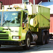Picture of a composting truck