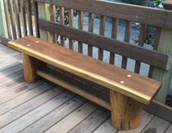 Picture of Reclaimed Wood Bench