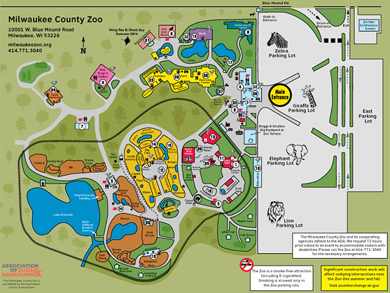 Milwaukee County Zoo map